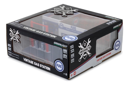 greenlight display pure vintage posto de gasolina 1:64