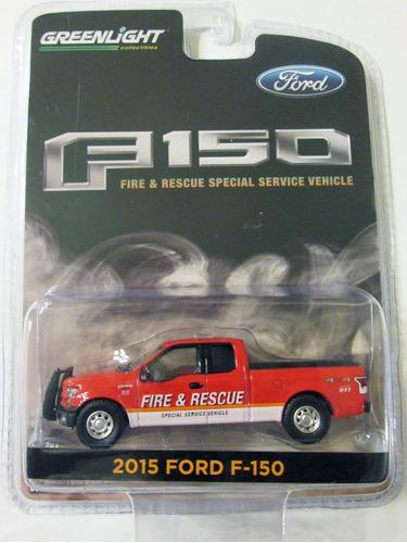 greenlight  ford f-150 van fdny escala 1/64  miden 9 cm.