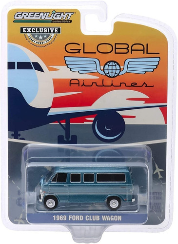 greenlight global airlines 1969 ford club wagon 1:64