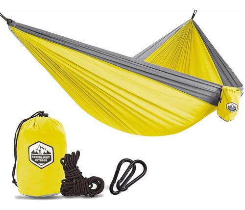 greenlight - hamaca de acampada para exteriores, doble y