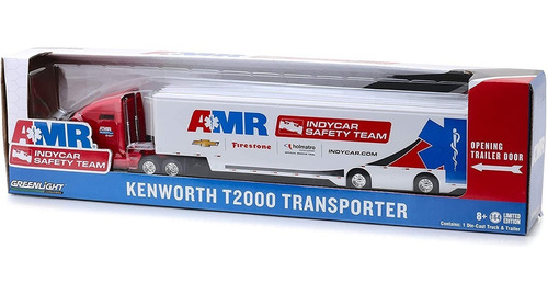 greenlight indycar safety team kenworth t2000 transporter