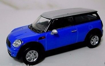 greenlight motor world - mini cooper clubman azul