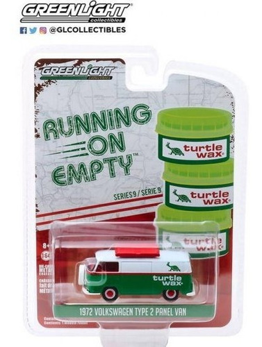 greenlight running 1972 volkswagen panel van kombi 1:64