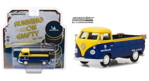 greenlight running michelin volkswagen t1 pickup 1:43