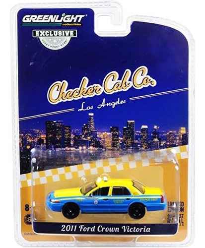 greenlight taxi los angeles 2011 ford crown victoria 1:64