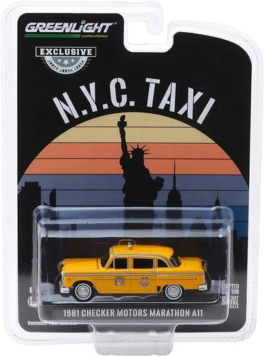greenlight taxi nova york 1981 checker motors marathon a11