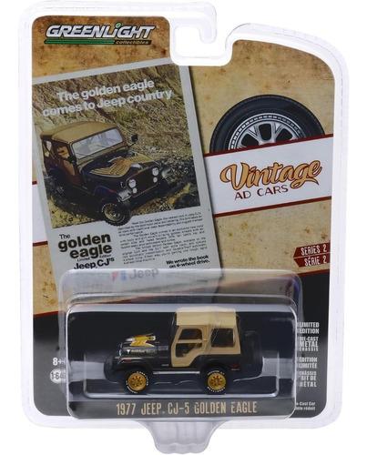 greenlight vintage 1977 jeep cj-5 golden eagle 1:64