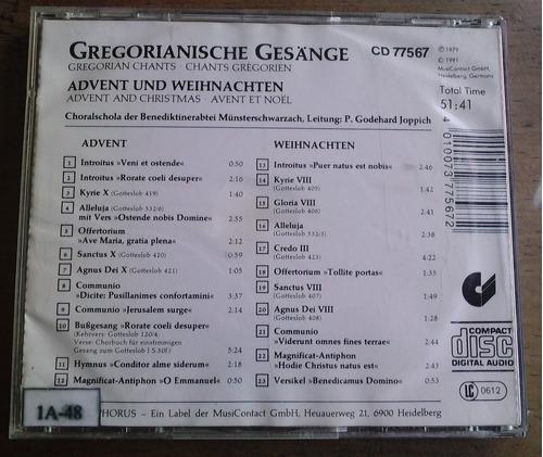 gregorianische gesange advent weihnachten cd aleman 1991 daa