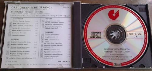 gregorianische gesange fastenzeit passion ostern  cd aleman