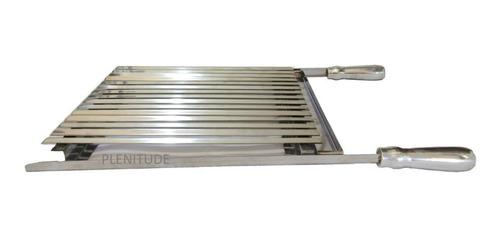 grelha argentina parrilha inox (40x45) para churrasqueira