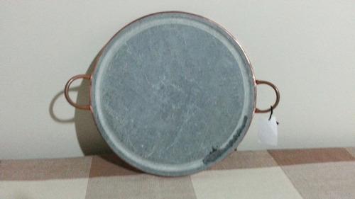 grelha de carne de pedra sabão 34 cm.