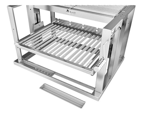 grelha eleva grill 705 inox + motor gira grill c 5 espetos