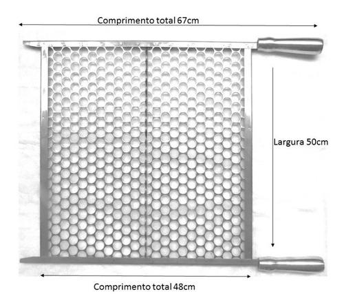 grelha em inox moeda churrasco 50cm, 55cm ou 60cm larg