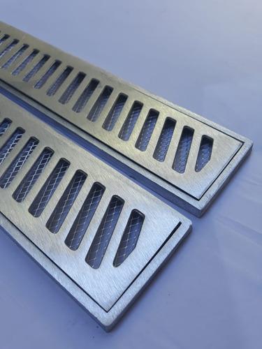 grelha linear 10x100 aluminio + tela anti insetos ( módulos)