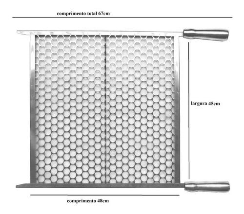 grelha moeda inox para churrasco largura 40cm , 45cm ou 50cm