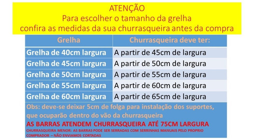 grelha moeda + kit de 6 espetos + suporte churrasqueira 75tb