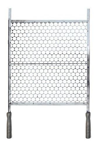 grelha para churrasco em inox 45 x 50 cm.