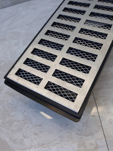 grelha pluvial 15x100 + tela anti insetos + caixa coletora
