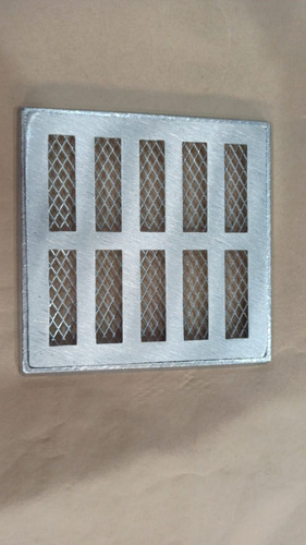 grelha pluvial 15x15 reta alumínio com suporte + tela
