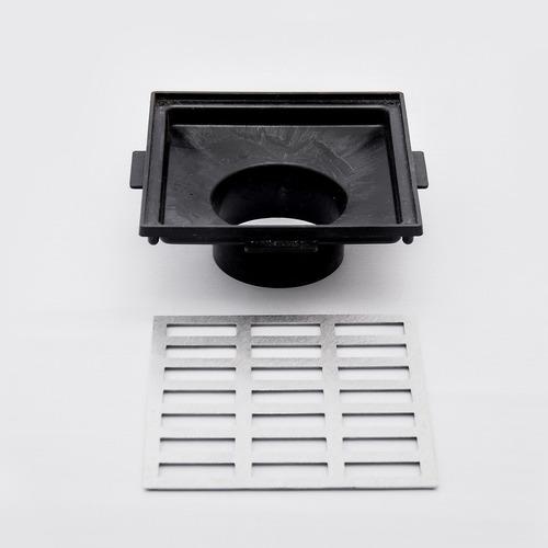 grelha pluvial 20x20 aluminio e caixa coletora saída baixa