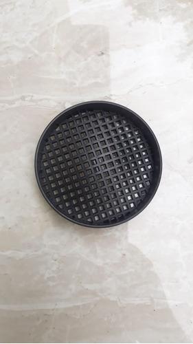 grelha pluvial 30x30 concava aluminio + coletor + tela pvc