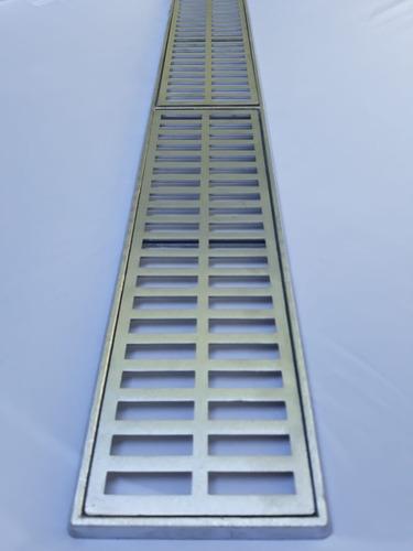 grelha pluvial linear 15x100 aluminio suporte (módulos 50cm)