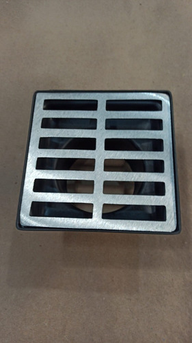 grelha pluvial modelo 15x15 reta aluminio + coletor s.baixa