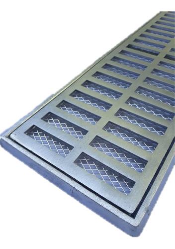 grelha ralo pluvial 15x100 + tela anti-insetos (módulos 50cm