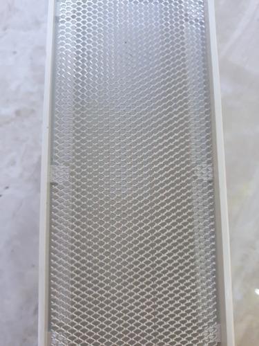 grelha seca piso linear 6x250 inox polido com tela - modulos