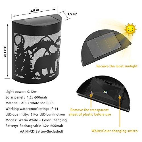 greluna luces solares para valla clasica