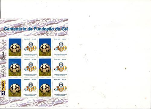 gremio fott ball clube- centenario meia folha especial-2003