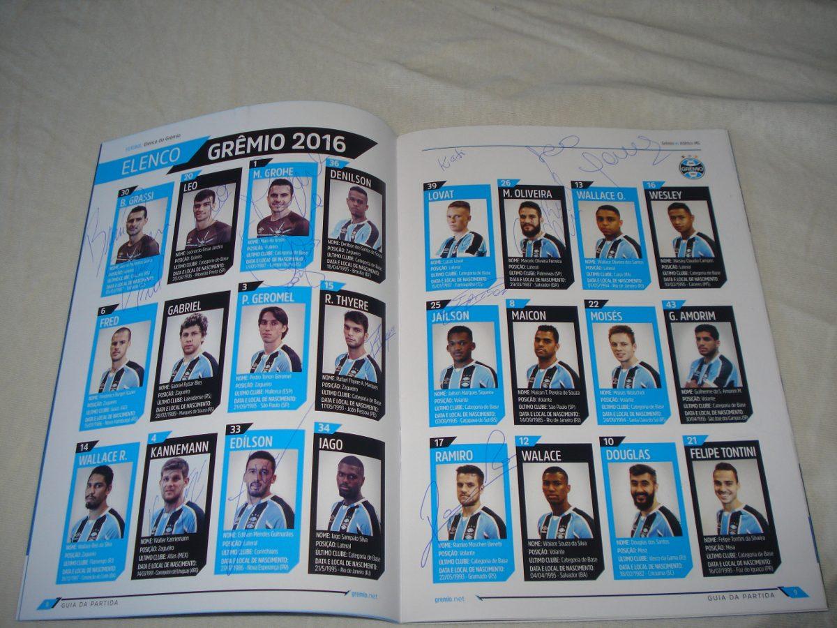 Gremio Guia Da Final Copa Brasil 2016 Autografado P Campeoes - R ... 7df2272aa2006