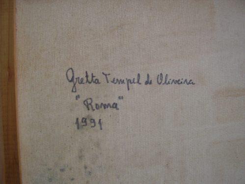 gretta. óleo/tela. roma 1991. tela 60 x 50  moldura 80 x 70