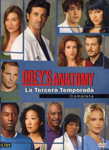 grey ' s anatomy tercera temporada 3 tres dvd
