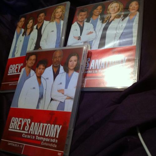 grey's anatomy 4ta temporada 5 discos dvd