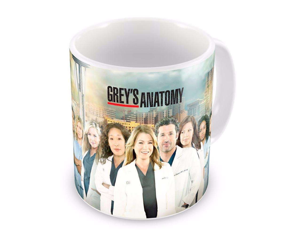 Grey\'s Anatomy - Seriado - Caneca De Porcelana - 320ml - R$ 22,92 em ...