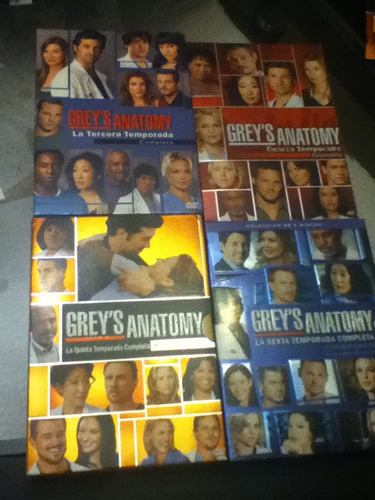 grey's anatomy series temporadas 3,4,5,6 originales