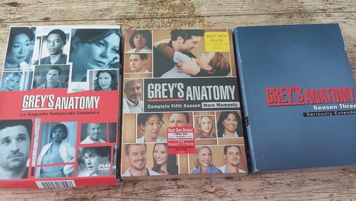 grey's anatomy temporada 2,3,5 (1 temp a elegir) original