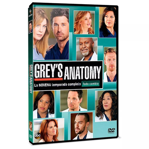greys anatomy temporada 9 en dvd nuevo original