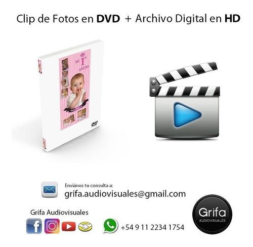 grifa audiovisuales - clip de fotos - edición de video