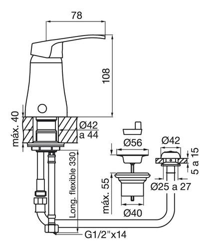 griferia arizona fv monocomando bidet 0189/b1 cuotas