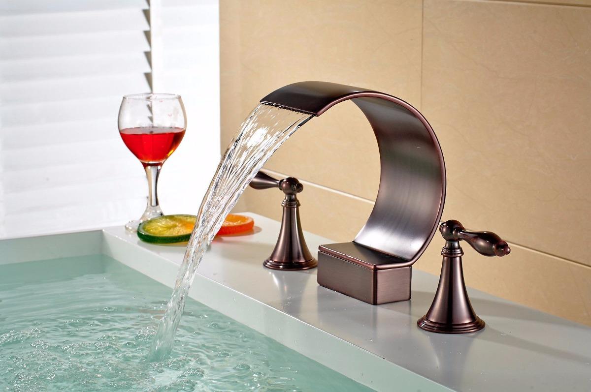 griferia baño bacha cascada moderna vintage-bronce antiguo ... - Griferia Para Bano En Mercado Libre