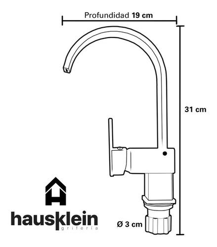 griferia canilla cocina baño monocomando pico bar de mesada - hausklein s002 f
