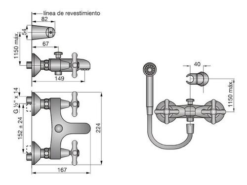griferia canilla ducha exterior mezcladora c/transferencia fiting shop