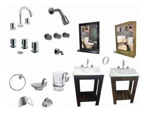 griferia canilla lavatorio baño cierre ceramico lever ofert-