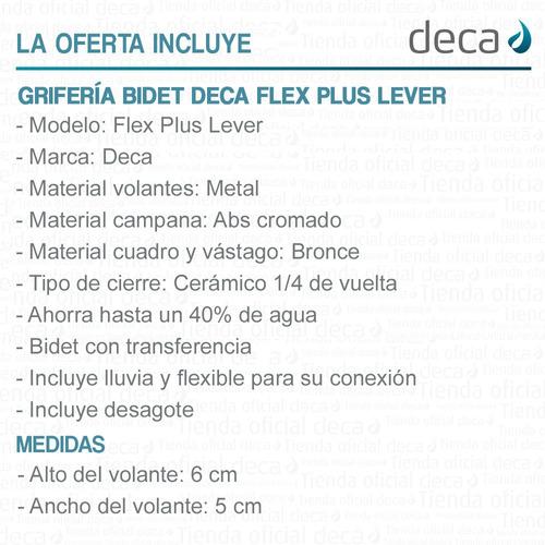 griferia cce bidet flex plus lever deca 1895.c21.pe / 506020