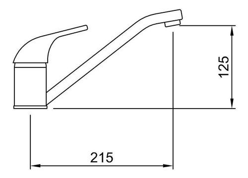 griferia cocina peirano 20-102 renacer monocomando mesada