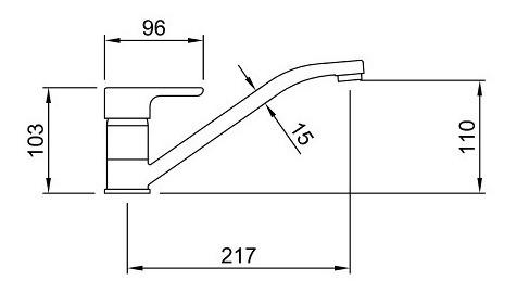 griferia cocina peirano 20-160 dique monocomando mesada