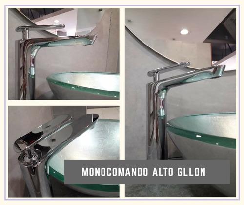griferia de baño monocomando pico alto p/lavatorio