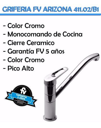 griferia de cocina fv arizona 0411.02/b1 monocomando alto